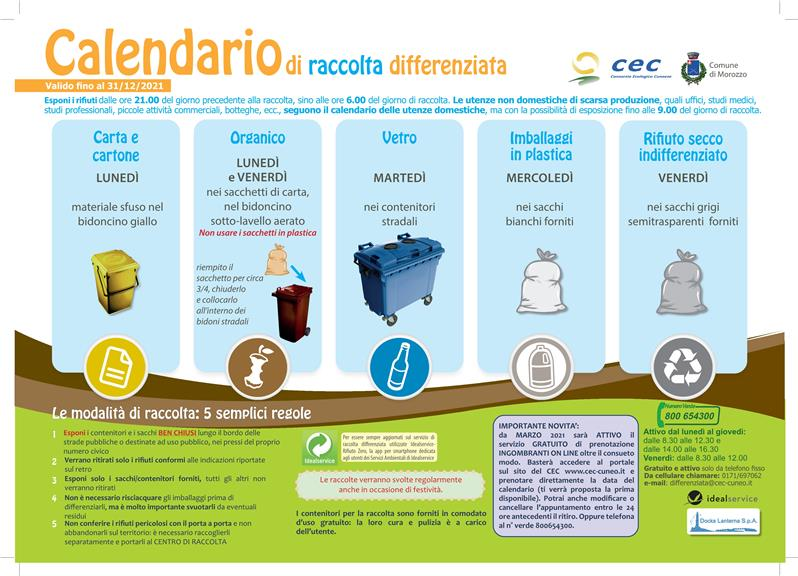 CALENDARIO FRONTE UTENZE DOMESTICHE